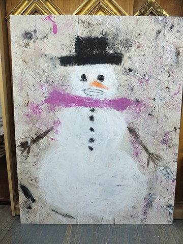 Studio: Long Island City, NY Snowman: 84x62in