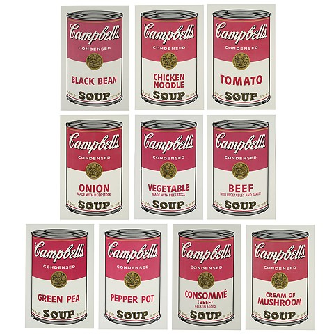 Andy Warhol- Campbell's Soup Cans