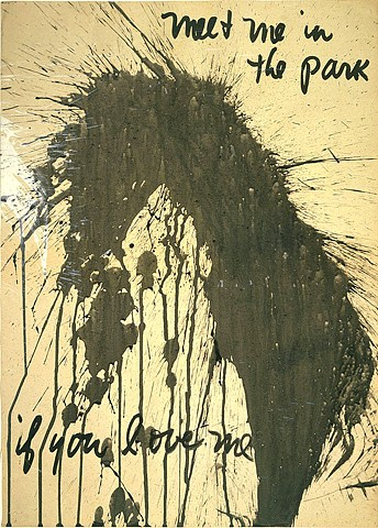 Frank O'Hara and Norman Bluhm- Poem Painting