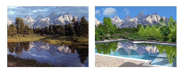grand tetons before and after