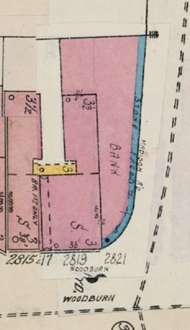 Bank, Detail from map of East Walnut Hills