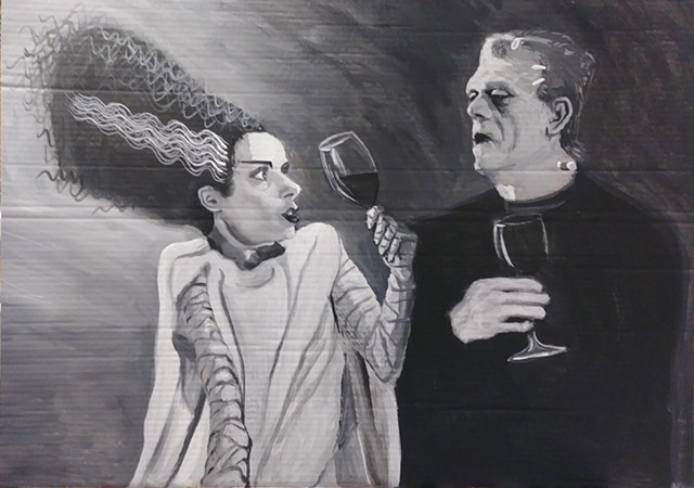 Fire Bad Wine Good (Elsa Lanchester and Boris Karloff)