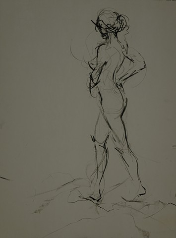 Allen Bentley drawing. Figure drawing. Gesture Drawing.