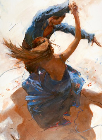 Allen Bentley painting.  Dance painting