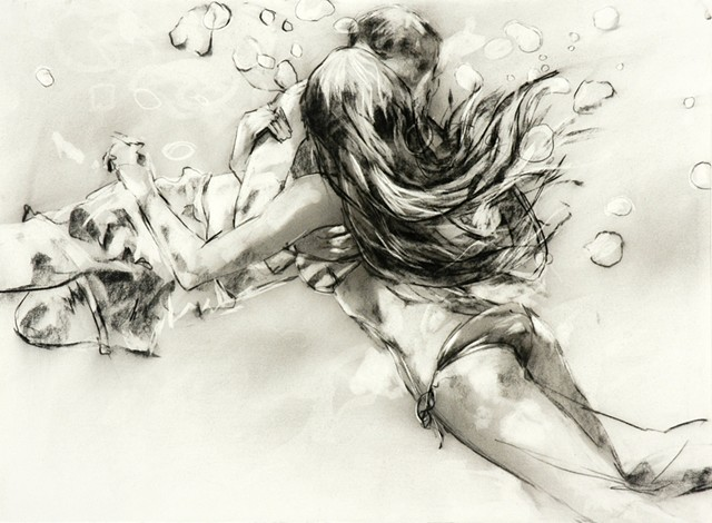 Allen Bentley drawing.  Water drawing.