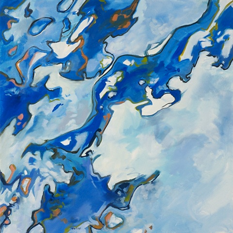 Allen Bentley painting.  Underwater painting.  Abstract.
