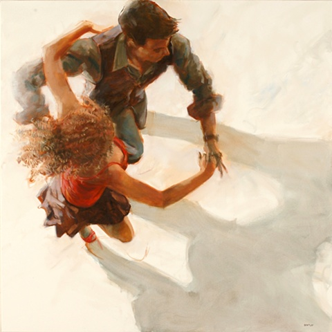 Allen Bentley painting.  Dance painting.