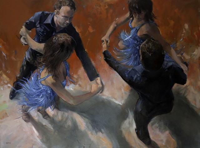 Allen Bentley dance painting