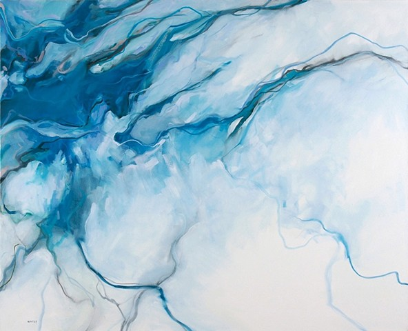 Allen Bentley painting.  Abstract painting.  Allen Bentley Waterscape.