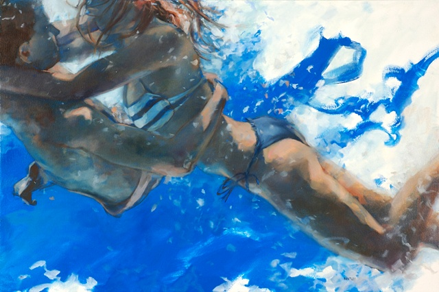 Allen Bentley painting.  Underwater painting.