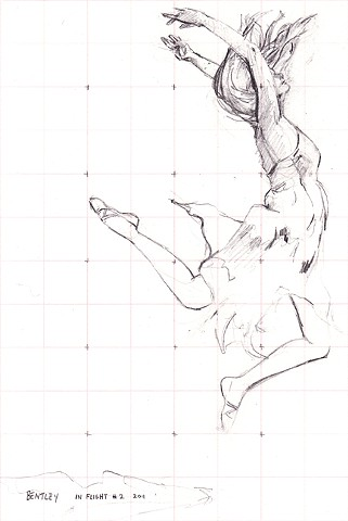 Allen Bentley drawing. Dancing drawing. Dance Drawing.