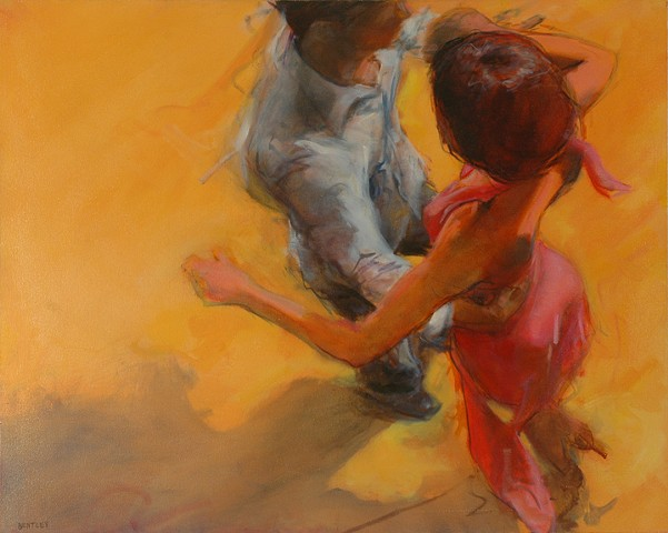 allen Bentley painting.  Dance painting. #dance #art #allenbentley