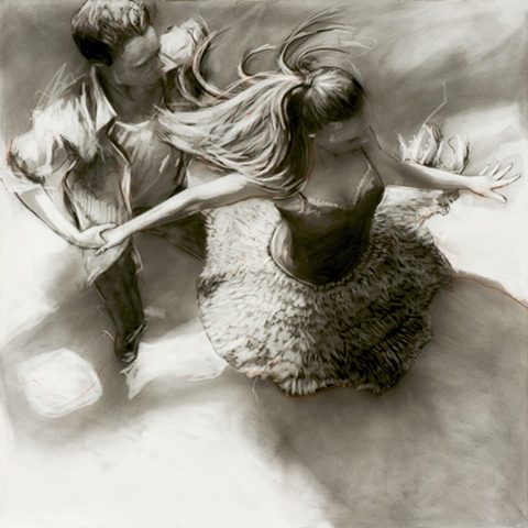 Allen Bentley drawing.  Dance drawing.