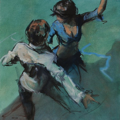 Allen Bentley painting. Dancing painting.