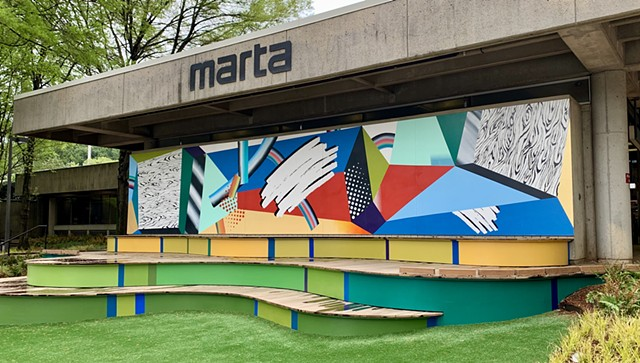 Exterior mural for Midtown Alliance and Marta Arts Center Station