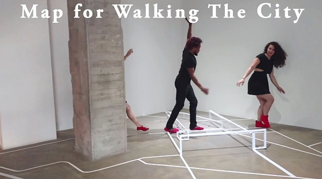 Map for Walking The City Performance Clip
