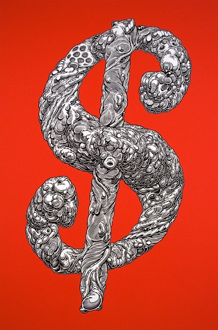 Large Red Dollar Sign, 2010