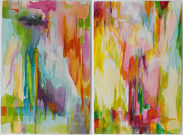 En Route to California (diptych)