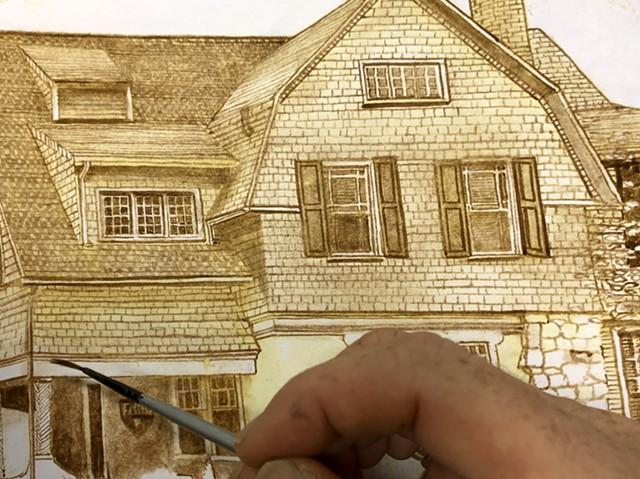 Painting Technique in Progress