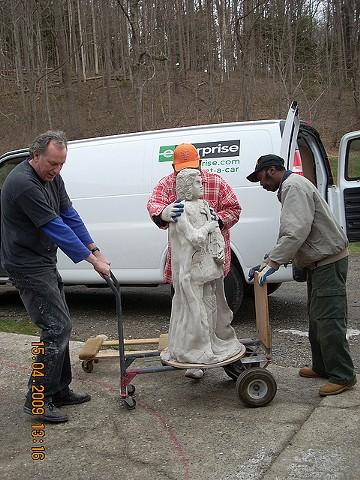 Majolica Saint Statue