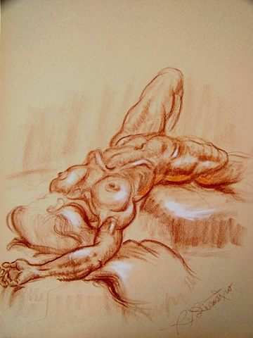 Woman Nude Reclining pose