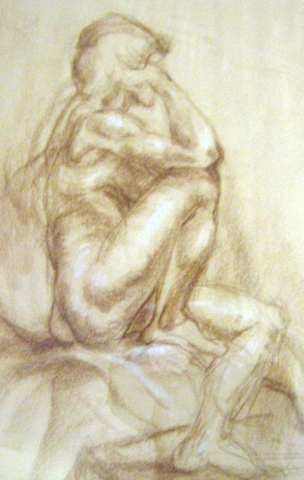Woman Drawing from life