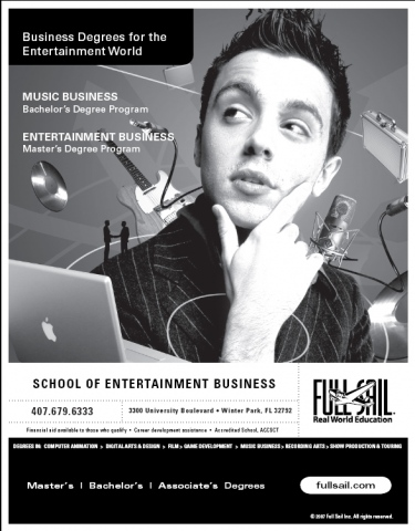 Full Sail: School of Film, Art, Design, Music & Media Production