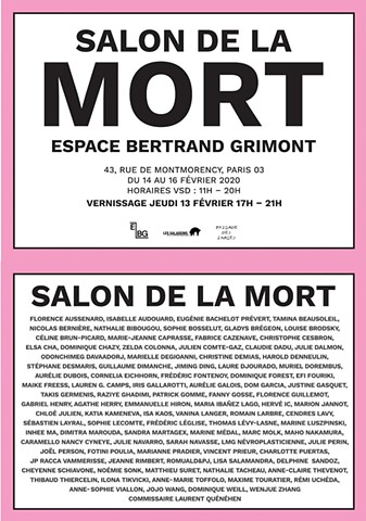 Salon de la Mort, curated by Laurent Quénéhen
