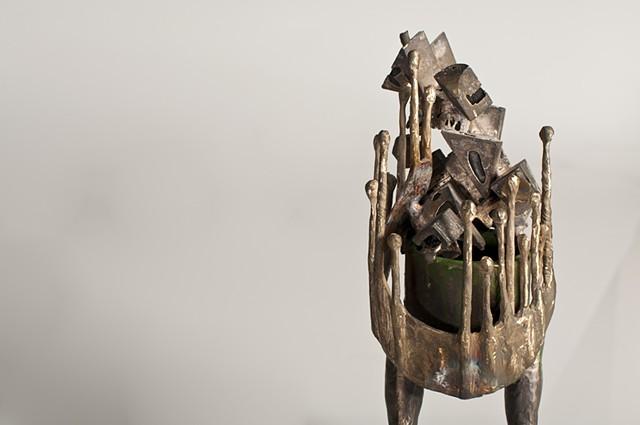 Bronze, lumber, acrylic