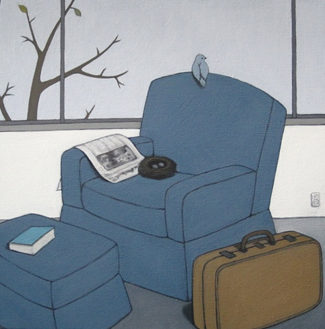 Chair, Suitcase, Tree - Before