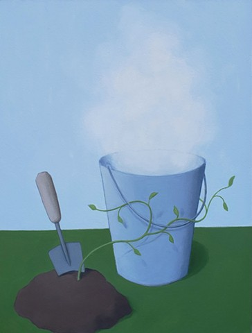Vine, Dirt, Spade, & Bucket of Fog