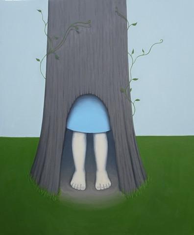 Girl Inside Tree