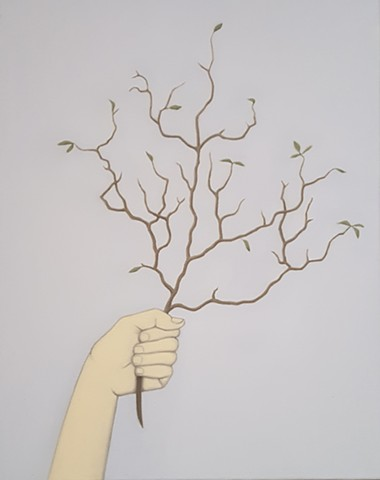 Hand Holding Small Branch