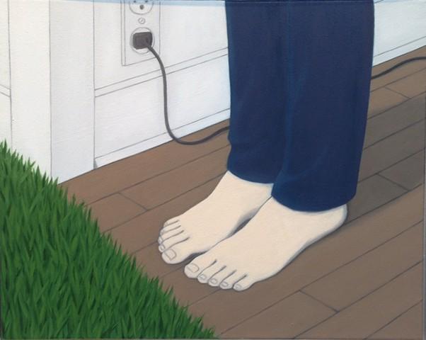 Feet, Floor, Grass