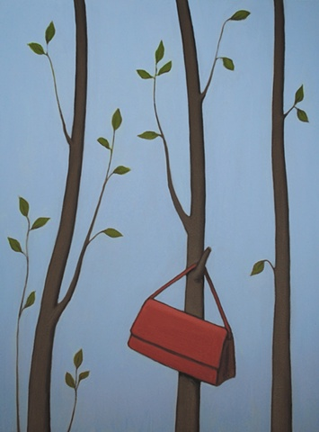 Three Trees, One Red Purse   (SOLD)