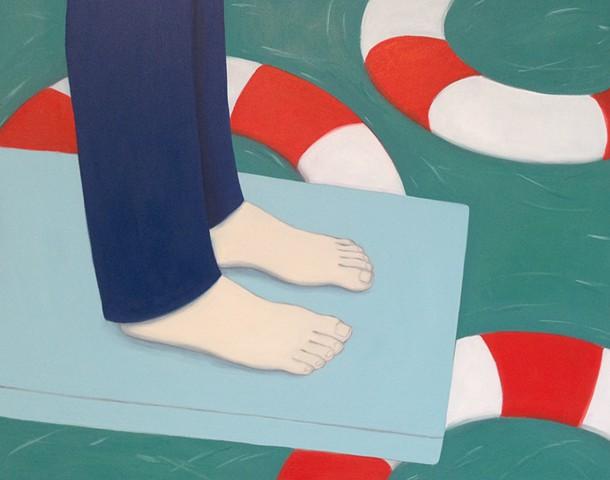 Feet, Diving Board, Life Preservers