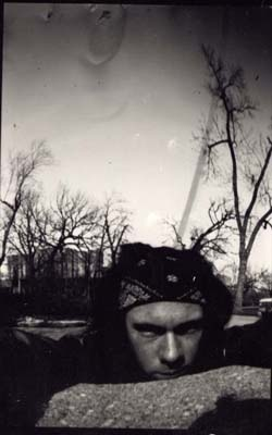 Self-portrait, pinhole camera