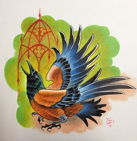 Bird - done with Copic markers