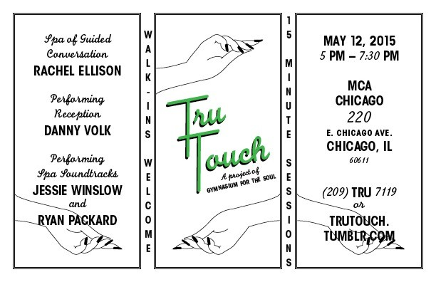 Flyer for Tru Touch: Spa of Guided Conversation, Designed by David Giordano