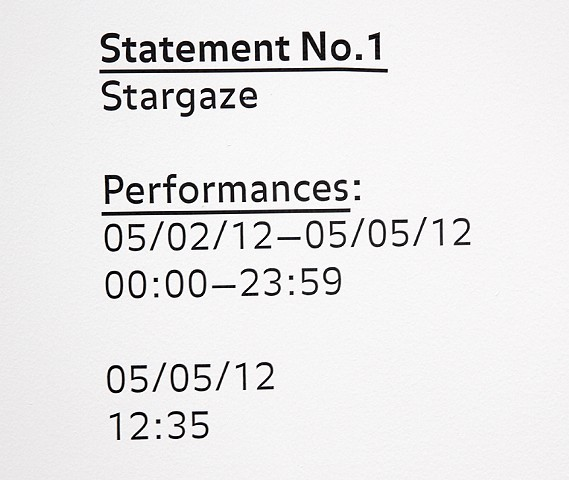 Statement No. 1: Stargaze