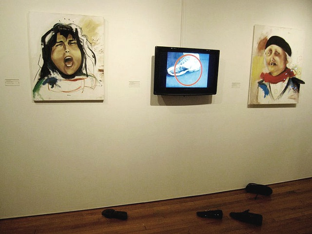 Shoe throwing incidents in contemporary art, Shoe throwing idea in contemporary art.