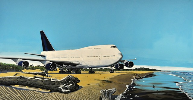 Bellwether 2018 Boeing 747 Leiv Fagereng painting