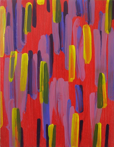 brushmarks minimalist colorful hot vibrant