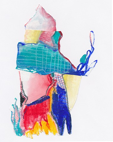 collage, abstract figure, contemporary art, drawing