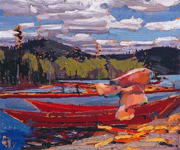 Stranger in a Strange Land (Tom Thomson, Batteau, 1916)
