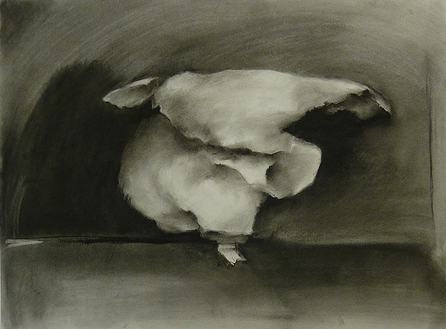 stilled motion drawing of Serpentine Dance, charcoal