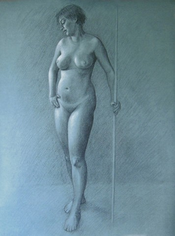 Charcoal drawing on hahnemuhle paper
