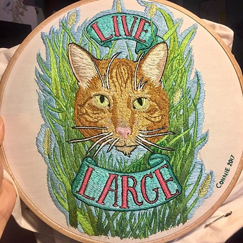 "Kitty ""live large"" for Goldy"