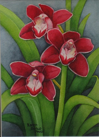 Orchids Red 3-Framed