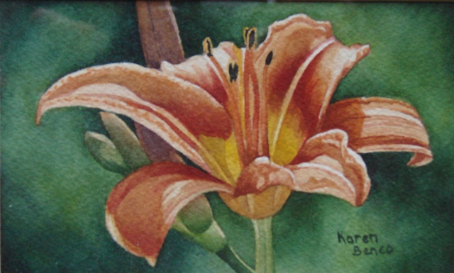Daylily Orange-Framed